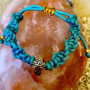 Celtic Cross braided macrame bracelet